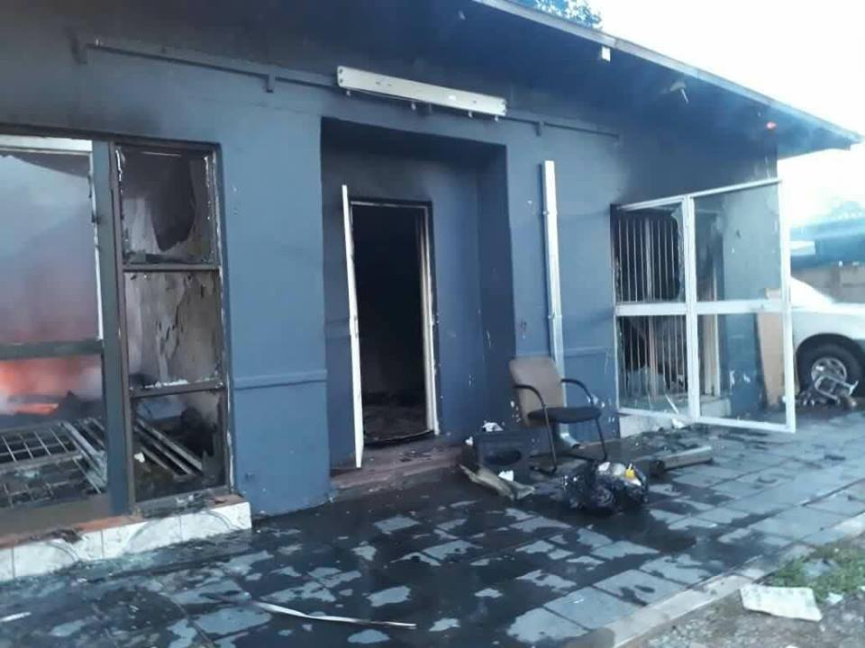 Some of the shops burnt down