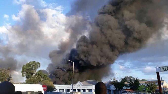 Property set on fire