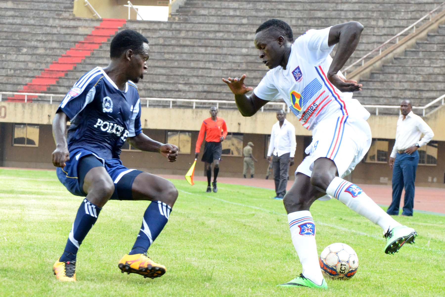 Police v SC Villa in action