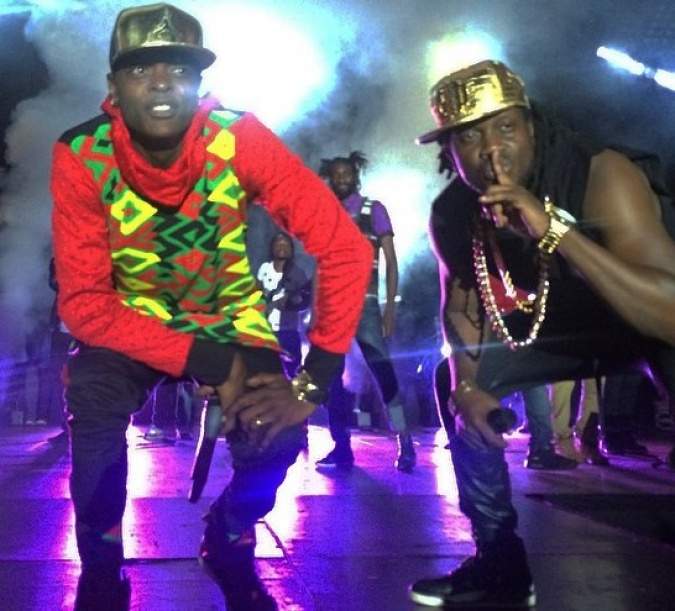 Bebe Cool with Chameleone performing