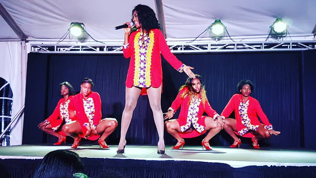 Cindy Sanyu performing on stage